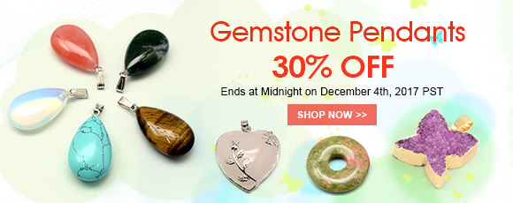 Gemstone Pendants 30% OFF