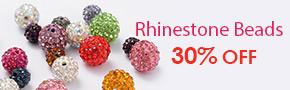 Rhinestone Beads 30% OFF