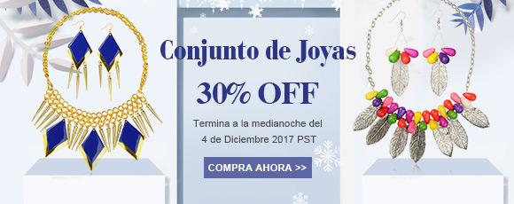 Conjunto de Joyas 30% OFF