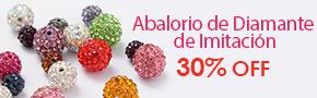 Abalorio de Diamante de Imitación 30% OFF