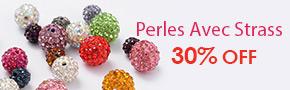 Perles Avec Strass 30% OFF