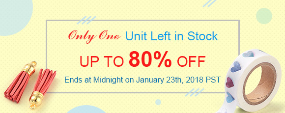 Only One Unit Left in StockUp To 80% OFF