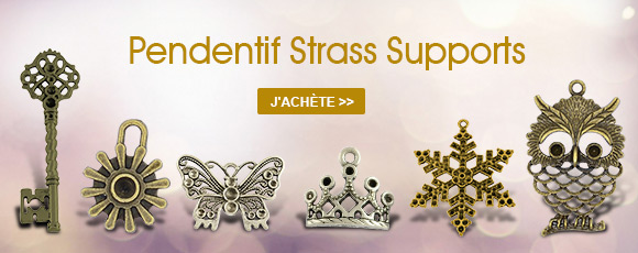 Pendentif Strass Supports
