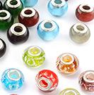Foil Glass European Beads