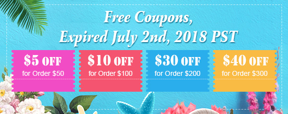 Free Coupons, expired July 2nd 2018 PST