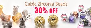 Cubic Zirconia Beads 30% OFF