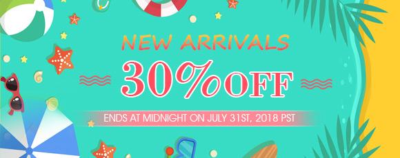 New Arrivals 30% OFF
