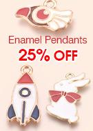 Enamel Pendants 25% OFF