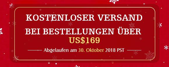 Kostenloser Versand Bei Bestellungen über US $ 169