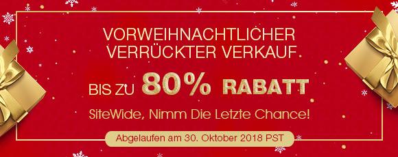 Vorweihnachtlicher Verrückter Verkauf Bis zu 80% Rabatt