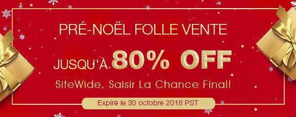 Pré-Noël Folle Vente Jusqu'à 80% OFF