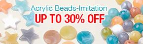 Acrylic Beads-Imitation Up To 30% OFF