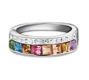 Austria Crystal Wide Band Ring
