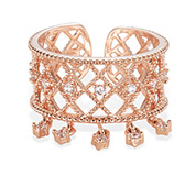 Rose Gold Plated Cuff Ring