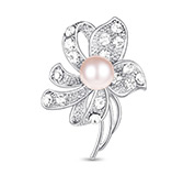 Shell Pearl Safety Brooch