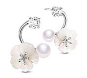 Conch Flower Stud Earrings