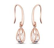Cubic Zirconia Hook Earrings