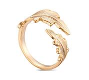 Leaves Brass Cuff Ring