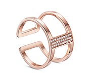Double Bands Cuff Ring