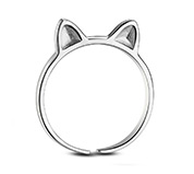 Cat Ears Cuff Tail Ring