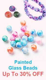 Painted Glass Beads Up To 30% OFF