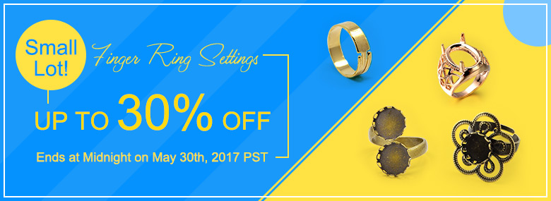 Finger Ring Settings Small Lot! Up To 30% OFF