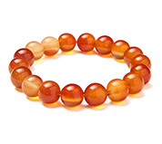 Red Agate Beads Stretch Bracelet