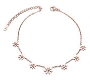 Flowers  Stainless Steel Anklet