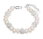 Pearl & Rhinestone Beads Bracelet
