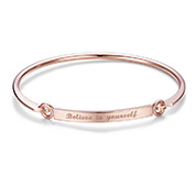 Rose Gold Plated Quote Bangle