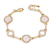 Cubic Zirconia Ring Link Bracelet
