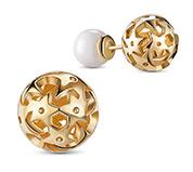 24K Gold Plated Ball Stud Earrings