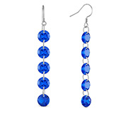 Blue Corundum Dangle Earrings