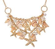 Shell Bib Beach Necklace