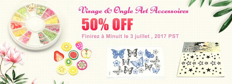 Visage & Ongle Art Accessoires 50% OFF