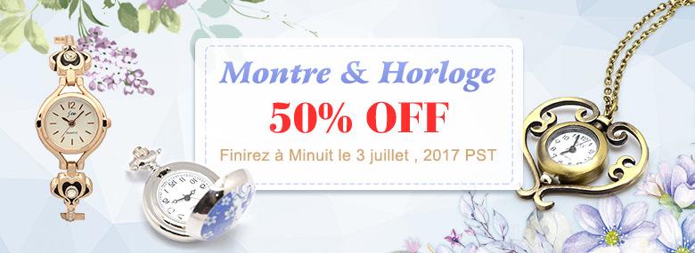 Montre & Horloge 50% OFF