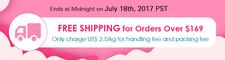 Free Shipping for Orders Over $169