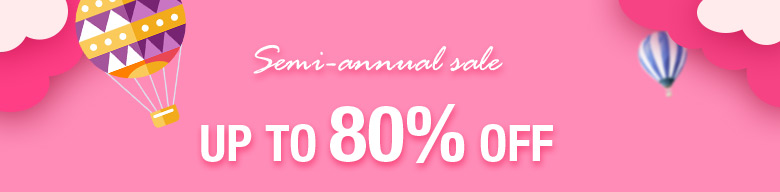 Semi-annual SALE Up To 80% OFF