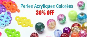 Perles Acryliques Colorées 30% OFF