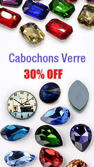 Cabochons Verre 30% OFF