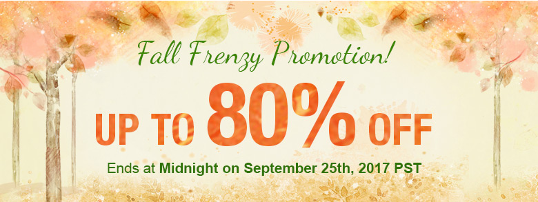 Fall Frenzy Promotion! Up To 80% OFF