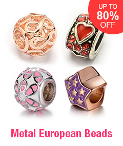 Metal European Beads Up To 80% OFF