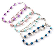 Glass Pearl Beads Anklets