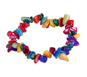 Gemstone Chips Stretch Bracelets