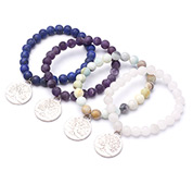 Gemstone Beaded Charm Bracelets