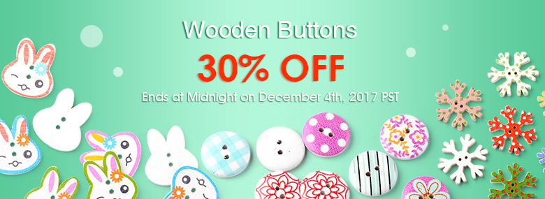 Wooden Buttons 30% OFF