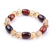 Agate and Glass Stretch Bracelets