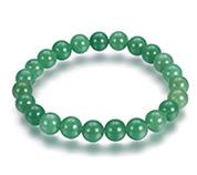 Green Aventurine Bead Stretch Bracelets