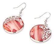 Glass Dangle Earrings