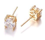 Brass Ear Studs